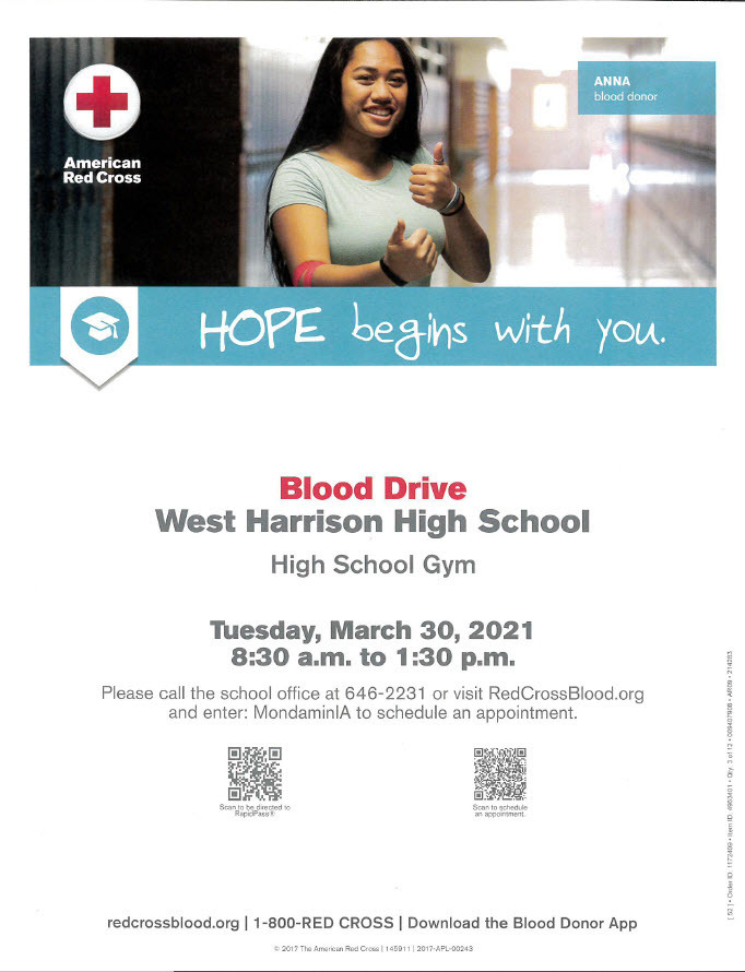 West Harrison Blood Drive Info