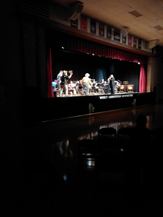 HS Concert Band performs with staff support