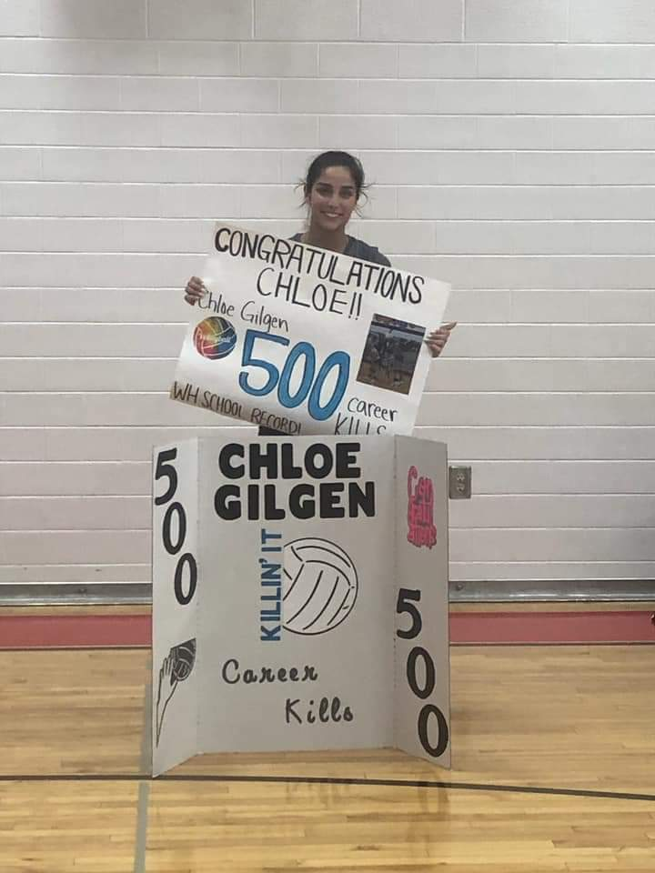 Congratulations to Chloe for reaching 500 career kills !!